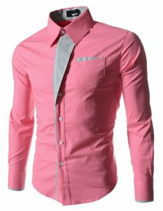 (N320) TheLees Mens Casual Long Sleeve Stripe Patched Fitted Dress Shirts PINK Medium(US X-Small) TheLees,http://www.amazon.com/dp/B00I0IVALC/ref=cm_sw_r_pi_dp_XTmktb1RWM9EMWDQ