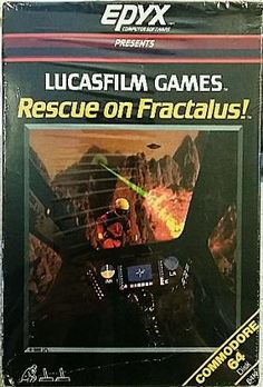 Rescue On Fractalus C64 Disk - Lucasfilm Games (1984)