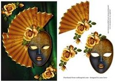 Gold Roses & Golden Masque