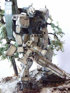 Model plastic model community post [MG-Modelers Gallery] Gundam | AFV | diorama | - GM cold weather model: sniper type