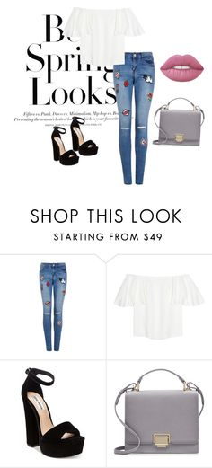 """""""#outfit #springoutfit #badges #goodlook"""" by gabriela-przystal on Polyvore featuring H&M, Valentino, Steve Madden and Smythson"""
