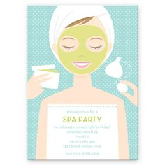 Stacy Claire Boyd Spa Girl Party Invitation Party Kids