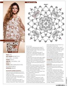 Poncho con flores - NUBE I can make a doily out of this