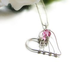 wire and bead heart_love this design