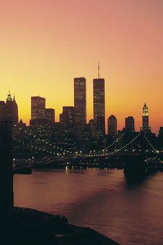 Night Scene Brooklyn Bridge