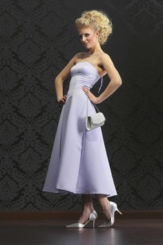 Abendkleid Brautjungfer Kleid mit Stola
