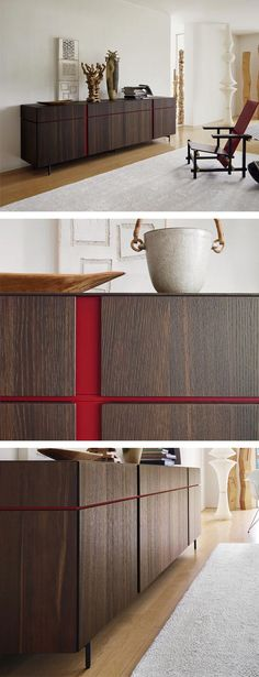 Livitalia Abaco Sideboard The contrasting handle grooves give the sideboard design Abaco an elegant Tv Furniture, Cabinet Furniture, Design Furniture, Modern Furniture, Sideboard Design, Modern Sideboard, Side Board, Interior Decorating, Interior Design