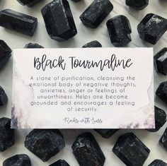 Black Tourmaline Pocket Stone Did you know every crystal you purchase from Rocks with Sass comes with its own meaning card (if available)? These help you connect to the stones intention and how it benefits you.