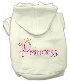 Princess Rhinestone Hoodies Cream M (12)