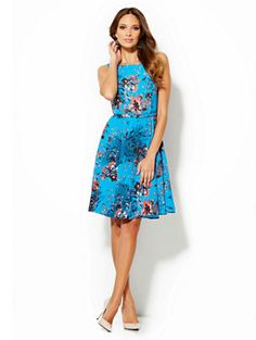Shop Eva Mendes Collection - Andrea Flare Dress. Find your perfect size online at the best price at New York & Company.