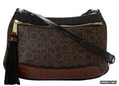 Calvin Klein Hudson Tassel Monogram Cross Body Bag - PinBuy
