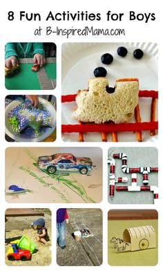 8 Play Ideas for Boys from the Weekly Kids Co-Op at B-InspiredMama.com