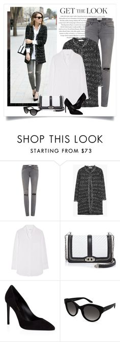 """""""Get the look - Kimberly Smith"""" by yexyka ❤ liked on Polyvore featuring Envi, Frame Denim, MANGO, Equipment, Rebecca Minkoff, Yves Saint Laurent and Barton Perreira"""