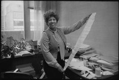 """""""I had to learn how to write better, how to seduce a reader faster, how to challenge a reader, how to open up the world.""""  Toni Morrison   Toni Morrison at her desk at Random House where she worked as an editor by Jill Krementz"""