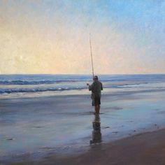 """Fisherman"" - Original Fine Art for Sale - ©Don Gray"