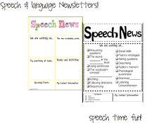 Speech Time Fun: Speech & Language Newsletters!