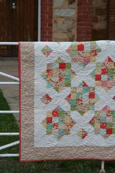 England Street Quilts: Briar Rose - A Finish and a Free Jelly Roll Pattern Free pattern that I would love to make!