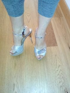 Thin High Heel Golden Color Elegant Women's Summer Shoes | 4Colordress Womens Summer Shoes, Golden Color, Elegant Woman, Peep Toe, High Heels, Model, Fashion, Moda