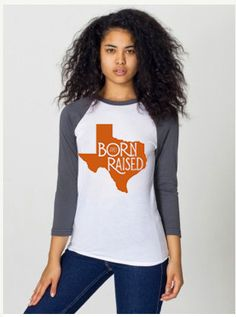 Texas+Born+&+Raised+SMALL+UT+Longhorn+Burnt+Orange+by+bohocircus,+$27.95