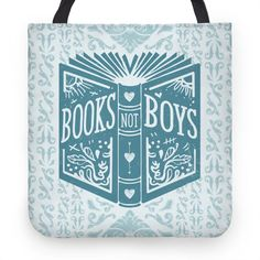 Books Not Boys | Tote Bags, Grocery Bags and Canvas Bags | HUMAN