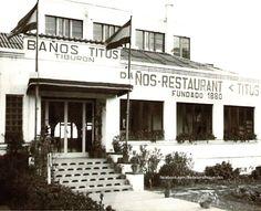 Baños Titus, instalados en la playa desde el año1880 al 2000. #badalona…