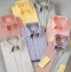 Brooks Brothers shirts, 1987.