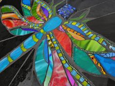 Dragonfly mosaic by AugustGlass1 on Etsy
