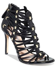 57d84395b664 GUESS Women s Leday2 Caged Dress Sandals Shoes - Sandals   Flip Flops -  Macy s
