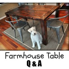 Questions about building a farmhouse table?  We have your answers!