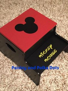Super cute Mickey Mouse Stepping Stool!    https://www.facebook.com/southernpaisleysnpolkadots