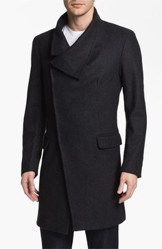 Antony Morato Wool Blend Long Coat  
