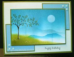 Serene Birthday – Stampin' Up! Card