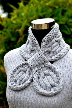 08e1c53ad Ravelry  Gray Circle Cables Scarf pattern by Christy Hills Cache Cou