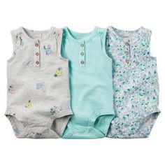3-Pack Sleeveless Bodysuits