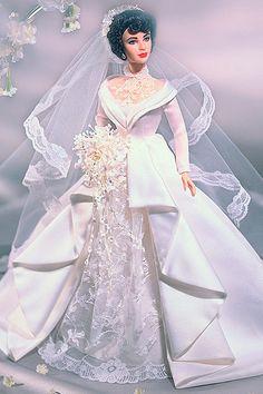 Barbie E Seus Vestidos: 2000 - Elizabeth Taylor in Father of the Bride™ Barbie Bridal, Barbie Wedding Dress, Wedding Doll, Barbie Dress, Barbie Clothes, Wedding Dresses, Lace Wedding, Elizabeth Taylor, Vintage Barbie