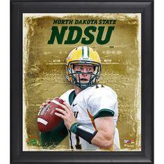 "Carson Wentz North Dakota State Bison Fanatics Authentic Framed 15"" x 17"" Playmaker Collage - $49.99"