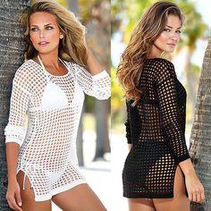 Just listed our new Fashion Women Bea.... Check it out !  http://voguebands.com/products/fashion-women-beach-tunic-dress-beachwear-swimsuit-sexy-ladies-hand-crochet-hollow-swimwear-beach-shirt-bikini-cover-up-dresses?utm_campaign=social_autopilot&utm_source=pin&utm_medium=pin