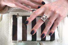 Monochrome stripes #blackandwhite #stripes #nails #fashion #beauty #bumpkinbetty