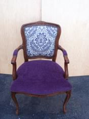 Chair after refinishing and upholstery work