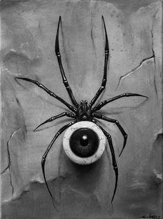 surreal art 40 of Million Reasons Why I Love Surrealism Art Spider Drawing, Spider Art, Spider Tattoo, Eyeball Drawing, Foto Fantasy, Dark Fantasy, Fantasy Art, Arte Horror, Horror Art