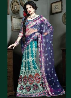 purple green blue indian clothing for women - Google Search