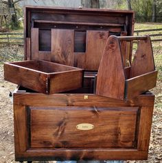 Deluxe Tack Trunk with removable bandage box, Tote and tray