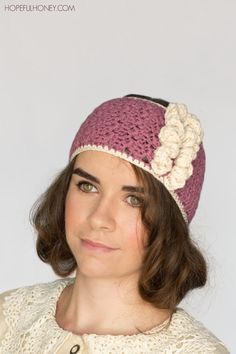 1920s Rose Swirl Crochet Headband