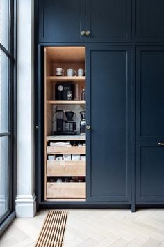 p/meine-kaffeestation-kaufen-eyeswoon-kaffeeecke-in-einem-kuchenschrank-landelijkeke-archite delivers online tools that help you to stay in control of your personal information and protect your online privacy. Kitchen Pantry Design, Kitchen Pantry Cabinets, Kitchen Interior, New Kitchen, Kitchen Organization, Kitchen Ideas, Kitchen Decor, Wall Pantry, Pantry Ideas