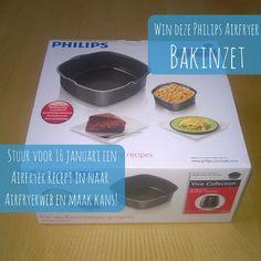WIN EEN AIRFRYER BAKINZET! Graag maken we iemand in het nieuwe jaar blij met een handig Philips Airfryer bakinzet! Voor ieder Airfryer-recept dat je voor 16 januari 2016 instuurt naar AirfryerWeb maak je één keer kans op deze prijs. Stuur dus zoveel mogelijk recepten in om je kans te vergroten. Meer informatie over de winactie lees je hier: http://www.airfryerweb.nl/win-een-philips-airfryer-bakinzet/.