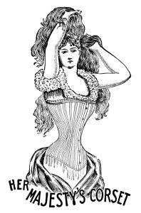 Free Vintage Image ~ Her Majesty's Corset Clip Art
