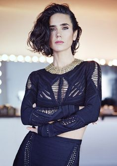 """"""" Actress Jennifer Connelly embodies the 2014 twist on '80s dressing in the Powerful Style issue. """""""