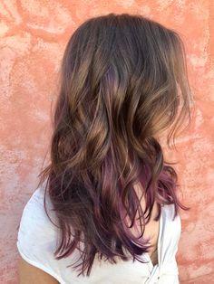 Lavender Hair Colors, Brown Hair Colors, Haircuts For Long Hair, Long Hair Cuts, Dip Dye Hair, Dyed Hair, Ombre Hair Color, Purple Hair, Underlights Hair