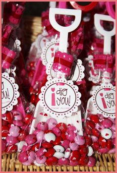 Valentine party favors. Would be cute for preschool party.