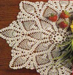 Free Crochet Pineapple Strawberry Doily Pattern